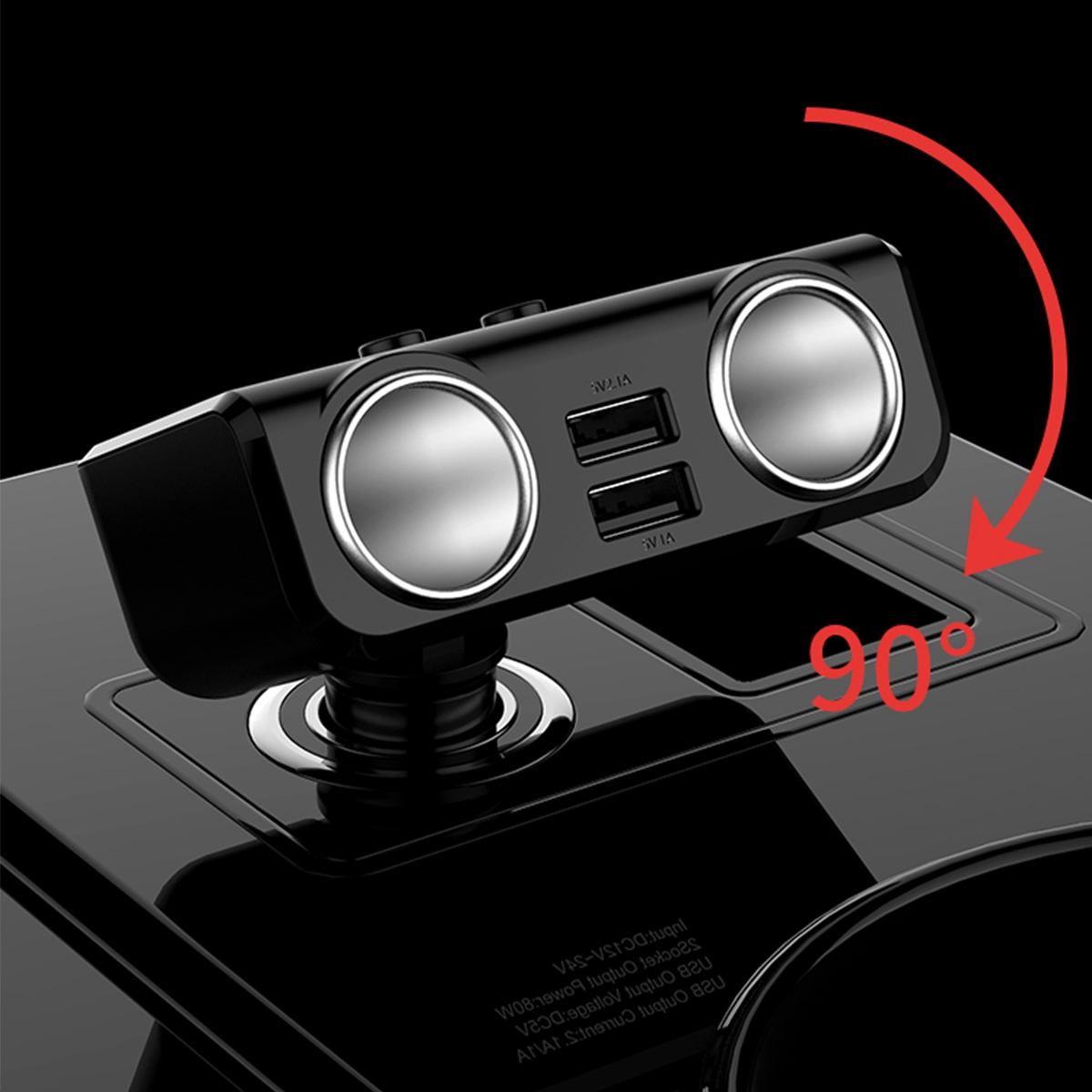 New car charger One tow two cigarette lighter for automobiles One tow three multi function vehicle with dual USB digital display in Cigarette Lighter from Automobiles Motorcycles