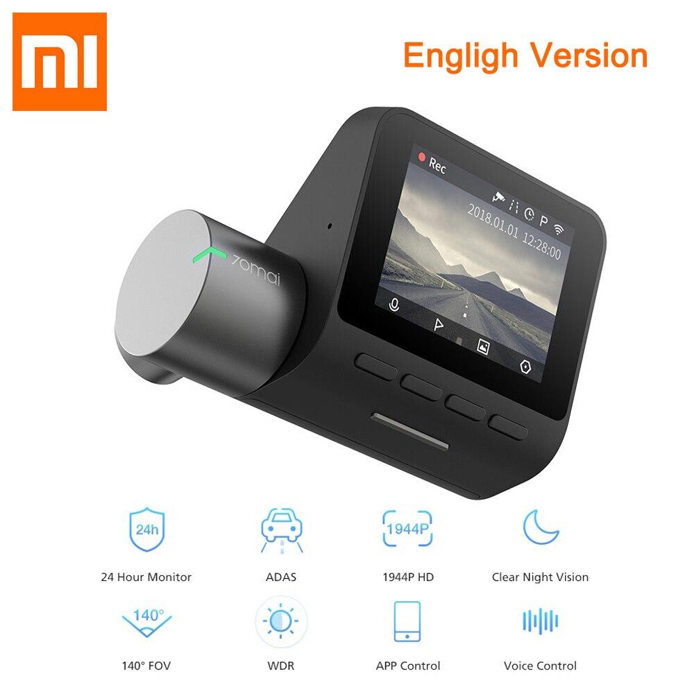 XIAOMI 70mai Dash Cam Pro 1944 P HD 70 Mai Автомобильный видеорегистратор Камера 140 градусов FOV wifi g сенсор ночная версия Dashcam с управлением приложением купить на AliExpress