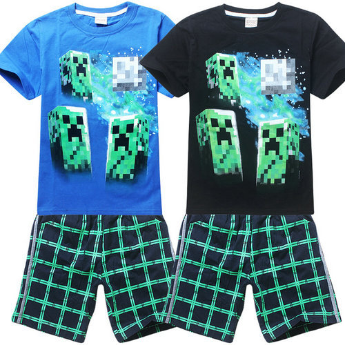 10344c489 T shirt Set Kids roblox Black Pullover Cotton Sweatshirt Minecraft Creeper  Pattern Children ClothesGift For Boys 6 14T Our world-in Clothing Sets from  ...