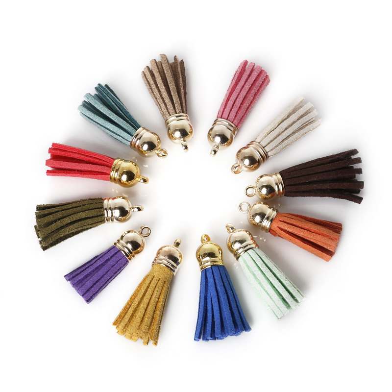 Tip Top Jewellery: Aliexpress.com : Buy Hot Sale 10Pcs 35x38mm Mixed Suede Leather Jewelry Tassel For Key Chains