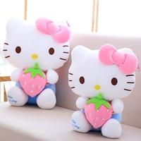 30cm 40cm Kawaii Stuffed Cat Kimono Animal Doll Anime Kitty Plush Toys With Strawberry Child Gift