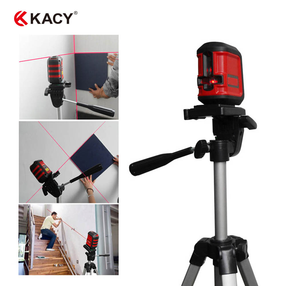KACY AL04 Portable Self-leveling 1V1H 2 lines Rotary Red Laser Level 360 cross laser line level WITHOUT TRIPOD and CLAMP kapro clamp type high precision infrared light level laser level line marking the investment line