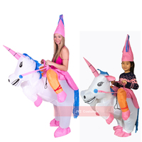 Inflatable Unicorn Fancy Dress Kids Adult Horse Riding Costumes For Halloween Carnival Dance Party Boys Girls