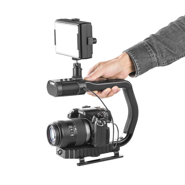iphone camera stabilizer aliexpress buy microphone dslr rig handheld 11694