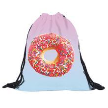 Modern Design Student School bags 3D Printing Travelling Backpack Mochila Feminina Harajuku Drawstring Bag No15
