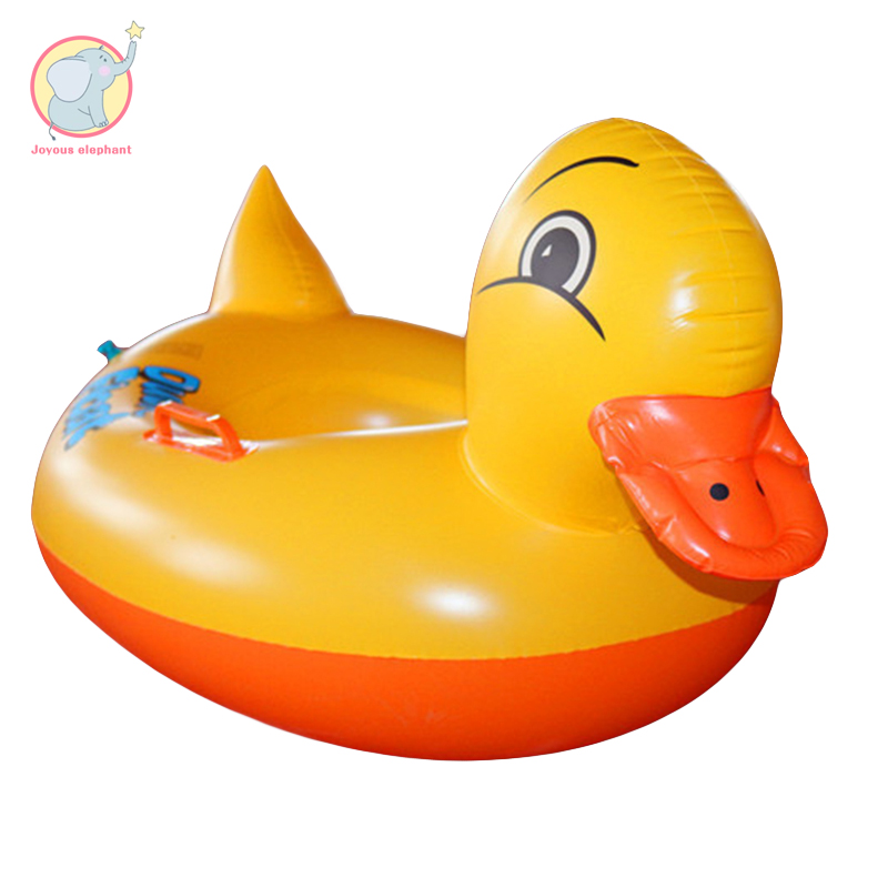 Inflatable swimming ring of yellow duck thickening child baby seat summer water toys pool float for baby 2018