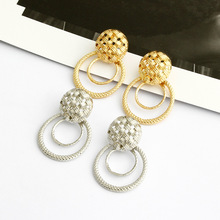 Elegant Round Metal Tortoise Earrings for Women 2019 New Circle Statement  Fashion Jewelry Gift