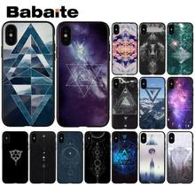 Babaite Geometry DIY Painted Beautiful Phone Accessories Case for Apple iPhone 8 7 6 6S Plus X XS MAX 5 5S SE XR Cellphones(China)
