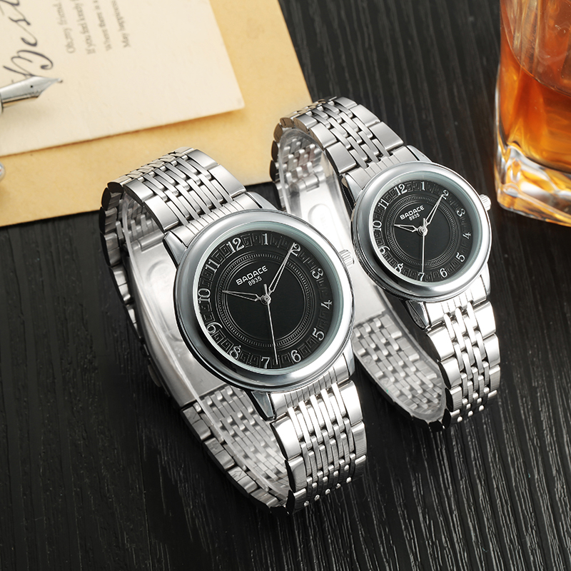 2016 New style couple watch high quality Japan Movement with stainless steel band men women wrist