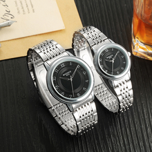 2016 New style couple watch high quality Japan Movement with stainless steel band men & women wrist watch pair lovers hand watch