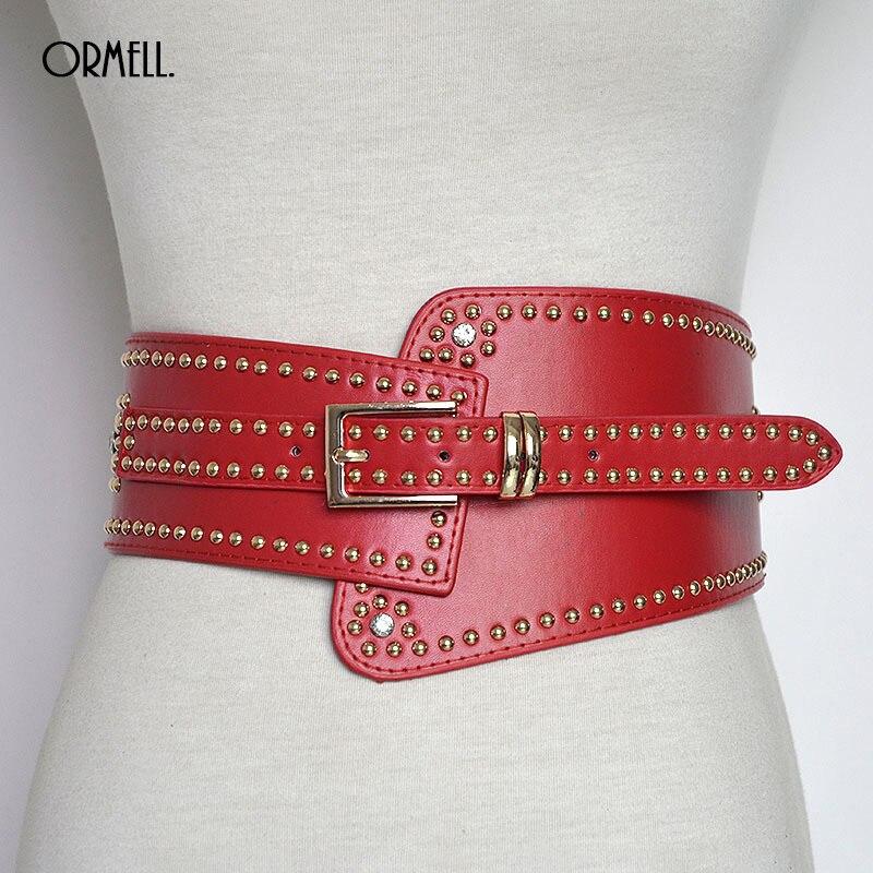 Love My Seamless Womens Ladies Girls Accessories Corset 6 Wide Belt With 3 Metal Buckles Elastic Waist Belt