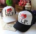 Frete grátis cap Malha Snapback das Mulheres Dos Homens de Moda Seta Coração MLP Chapéu Ajustável bonés de Beisebol bonés Chapéus Para Das Mulheres dos homens