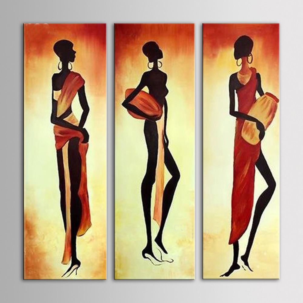 IARTS Africa Women Wall Art 3 Pieces Group Painting Home Decor ...