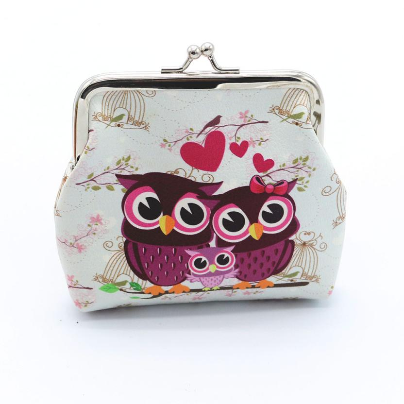 Fashion Women Lady Retro Vintage Owl Small Wallet Hasp Purse Clutch Bag 100% brand new and high quality Shop