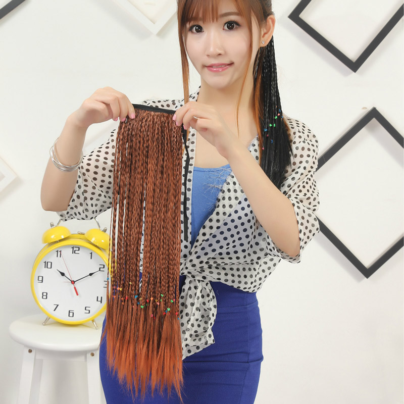 Pigtail hair extensions images hair extension hair highlights 20 50cm women long handmade pigtail bohemian style ponytail 20 50cm women long handmade pigtail bohemian pmusecretfo Gallery