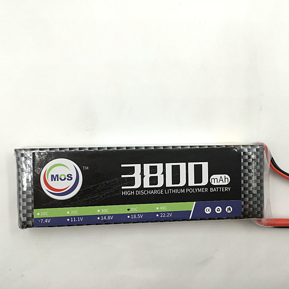 MOS 2S lipo battery 7.4v 3800mAh 40C For rc helicopter rc car rc boat quadcopter Li-Polymer battey free shipping yukala ft012 2 4g rc racing boat hq734 rc car 11 1v 2700 mah li polymer battery