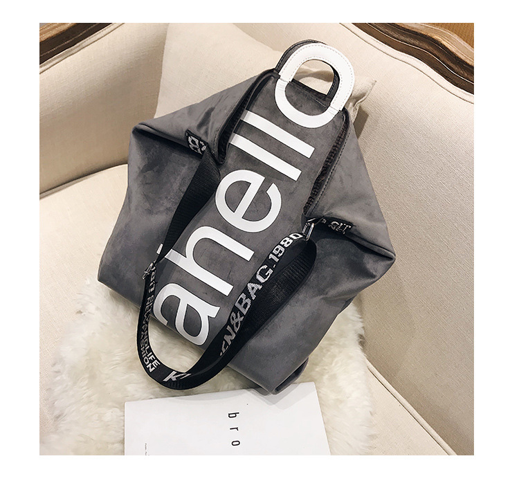 HTB121hRXErrK1RkSne1q6ArVVXaR - New Large-capacity Velvet Handbag Fashion Lady Letter Shoulder Crossbody Bag High Quality Women's Shopping Bag Tote