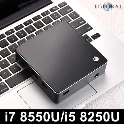 [[8th Gen Intel Core I7 8550U i5 8250U Quad Core 8 Threads] Eglobal NUC Mini PC Windows 10 DDR4 AC Wifi 4K HTPC HDMI Mini DP