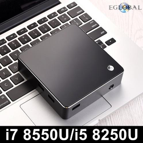 [8th Gen Intel Core I7 8550U I5 8250U Quad Core 8 Threads] Eglobal Nuc Mini PC Windows 10 DDR4 AC Wifi 4K HTPC HDMI Mini DP