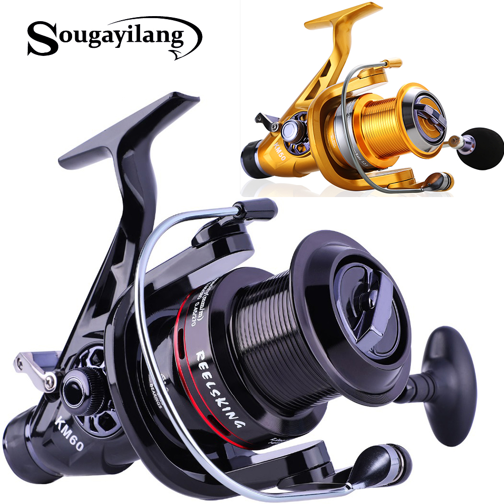Sougayilang 11 1BB Carp Fishing Reel Right Left Hand Interchangeable CFishing Coil Reel 11 1BB Feeder