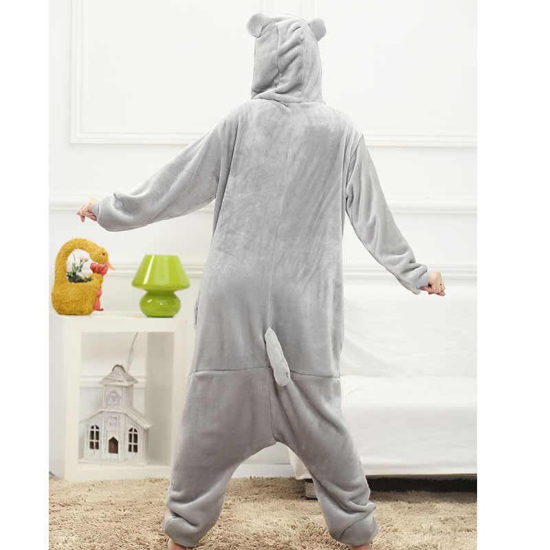 ... Тоторо Kigurumi Комбинезоны серый Кот мультфильм пижамы для взрослых  Забавные милые пижамы японский аниме сна костюм ... 91eef3f9d3d38