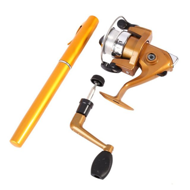 Travel Baitcasting Telescopic Pocket Pen Shape Fishing Rod