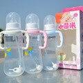 2016 do bebê de plástico garrafas de 280 ml de calibre padrão PP seguro sucção automática lidar com azul de rosa fontes de alimentação wholesale-01