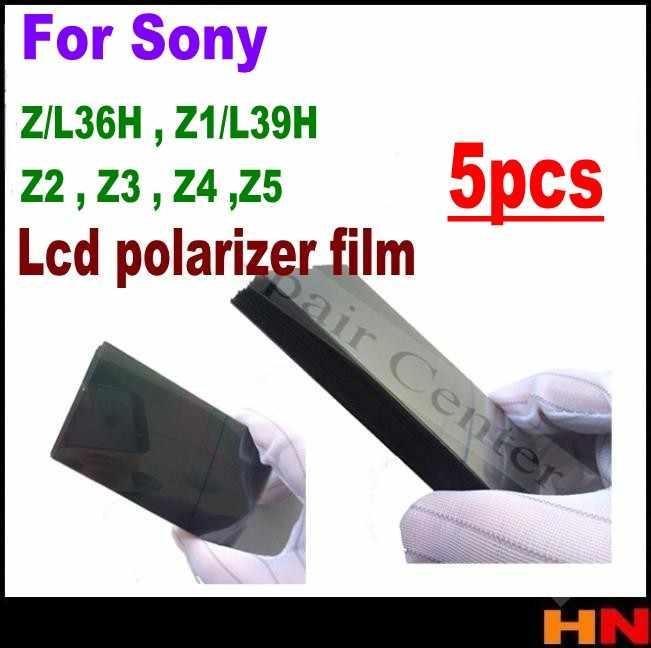 5 pièces vert jaune câble flexible Antistatique Polariseur Film Polarisé pour Sony Xperia Z L36H Z1 L39H Z2 Z3 Z4 Z5 mini Lcd Remise À Neuf