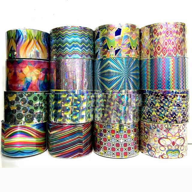 New 1 Roll Nail Art Transfer Foil Sticker Paper DIY Beauty Polish Design Various Styles Nail Decoration Tools