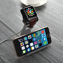 Gray Aluminum Stand Charging Dock Station Holder For iPhone Apple Watch USA S2EG