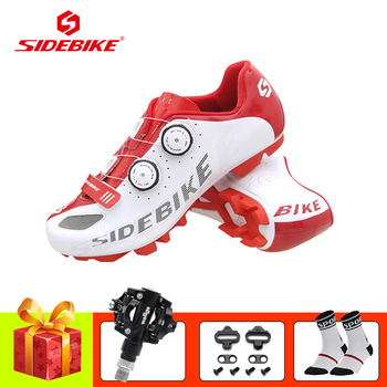 SIDEBIKE 2019 Men women cycling shoes sapatilha ciclismo mtb SPD pedals Self-locking breathable bicicleta mountain bike shoes