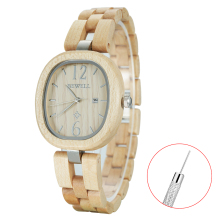 Bewell wooden watch for women luxury girls fashion ladies wrist watches retro design 162A