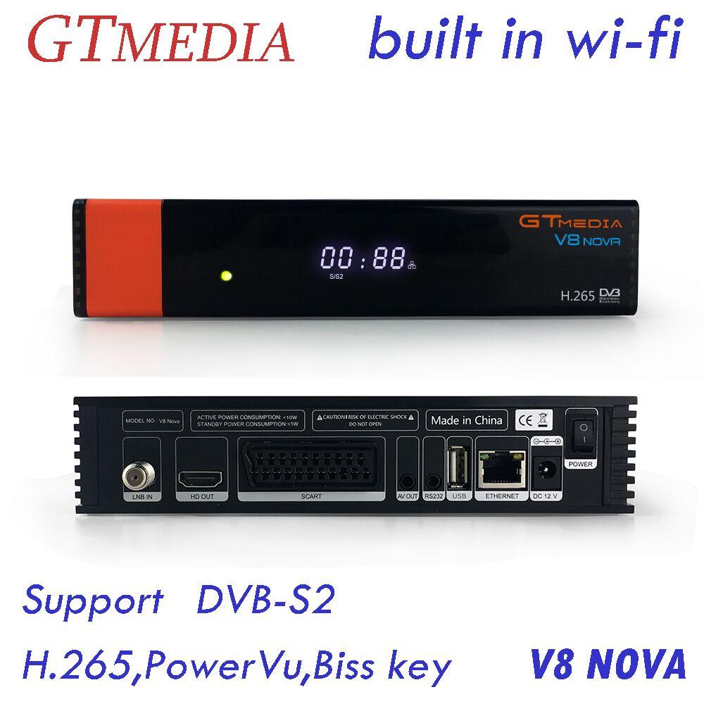 Gtmedia V8 Nova Satellite TV Receiver DVB S2 Full HD 1080P Built in Wifi Support H