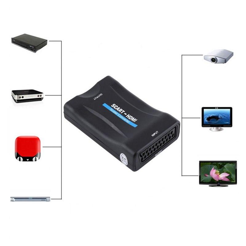 720 P 1080 P Péritel vers HDMI Convertisseur Audio Vidéo Convertisseur Scaler Adaptateur Péritel vers HDMI Video Converter