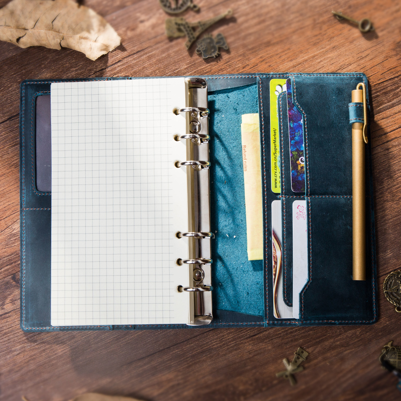 Diary Travel Journal Planner Craft Vintage Genuine Leather Notebook A5 A6 A7 Recycling Rind Binder Sketchbook For Travel spiral