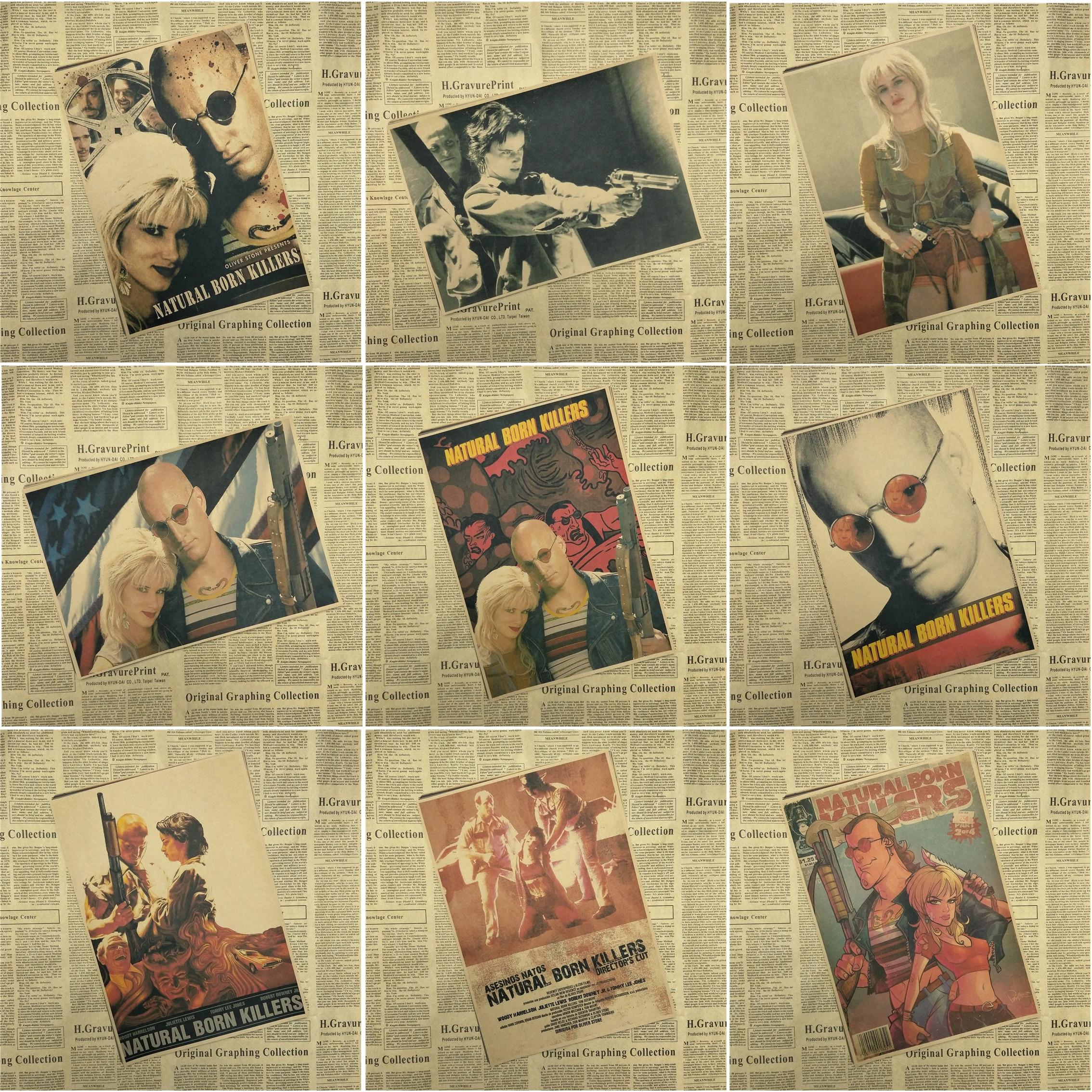 Natural Born Killers Klassische core Film Kraftpapier Poster Bar Cafe Wohnzimmer esszimmer