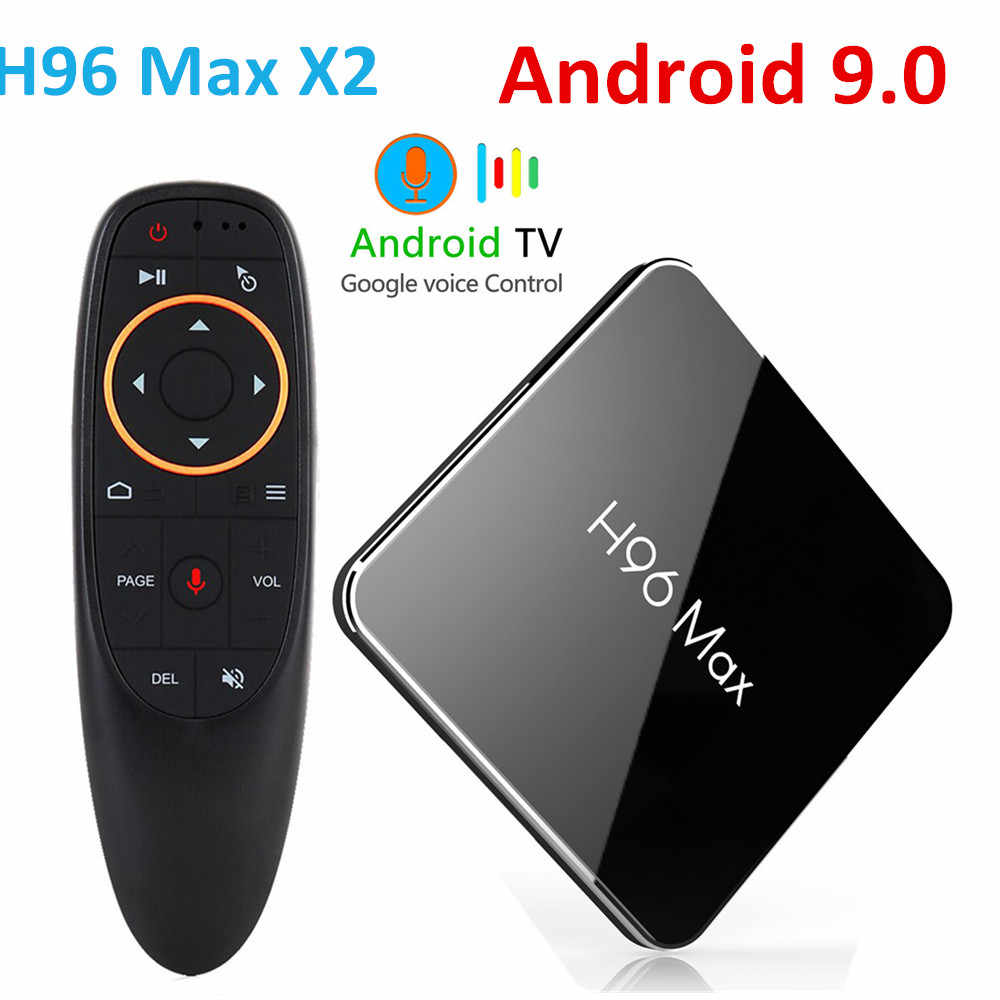 H96 Max x2 Android 9.0 Amlogic S905X2 LPDDR4 Quad Core 4GB 32GB 64GB 2.4G & 5GHz Wifi BT H.265 4K décodeur Smart TV box H96Max