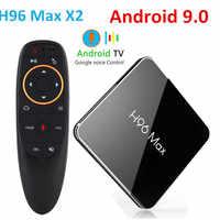 H96 Max x2 Android 9.0 Amlogic S905X2 LPDDR4 Quad Core 4GB 32GB 64GB 2,4G & 5GHz wifi BT H.265 4K Set-top-box Smart TV BOX H96Max
