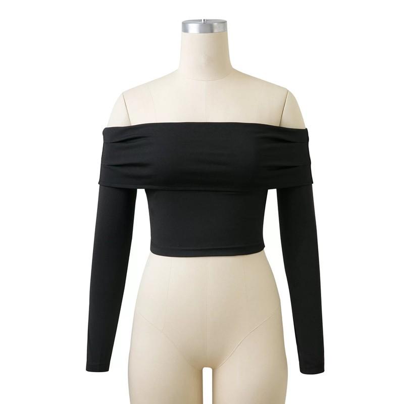 HTB121k0OFXXXXXRXXXXq6xXFXXXI - Women Slash Neck Off Shoulder Crop Top Long Sleeve Sexy JKP024