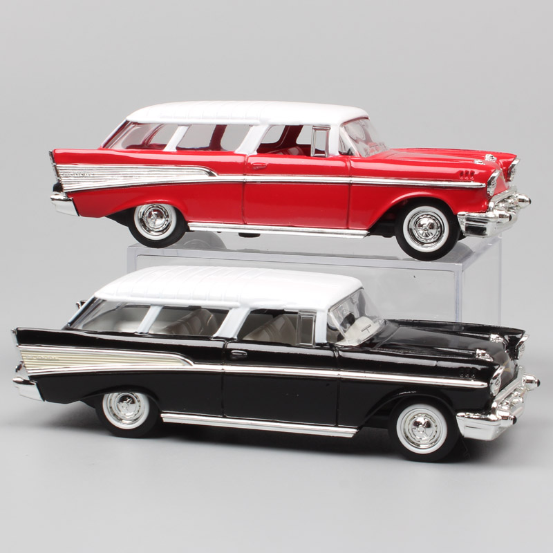 <font><b>1:43</b></font> Scale mini old 1957 GM Chevrolet Nomad station wagon Van hardtop sedan metal diecast cars <font><b>model</b></font> auto toy gift replica Child image