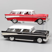 1:43 Skala Mini Old 1957 GM Chevrolet Nomad Station Wagon Van Hardtop Sedan Logam Diecast Model Mobil Auto Hadiah Mainan replika Anak(China)