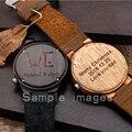 BOBO PÁSSARO Pessoal Design Criativo MENSAGEM Logo Gravado Esculpida Personalizar Bambu Relógio De Madeira Itens de Personalização Não Produtos