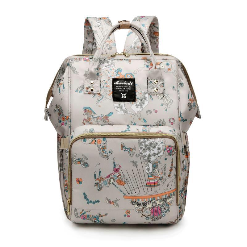 Large Capacity Mommy Maternity Bag Diaper Nappy Bag Bolsa Maternida Printed Bebe Bag Travel Backpack Desiger Nursing Baby Care цена 2017