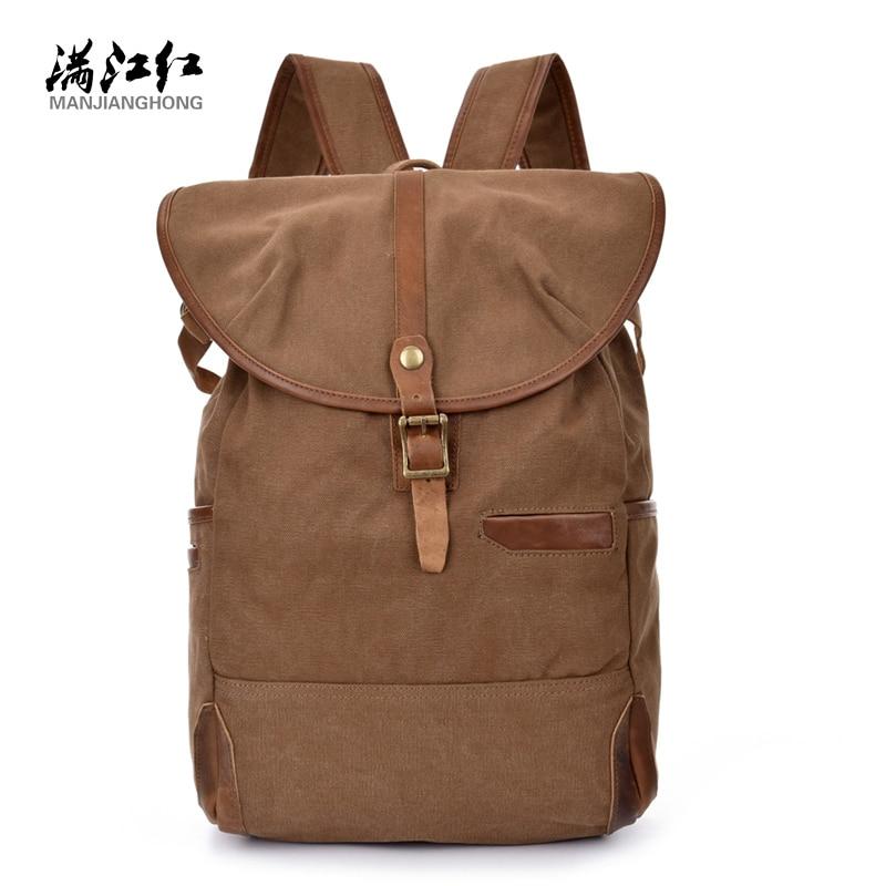 ФОТО Fashion School Bag for teenagers men backpack laptop backpack Leisure Travel Bag Canvas  Wear-resisting Bag  1516