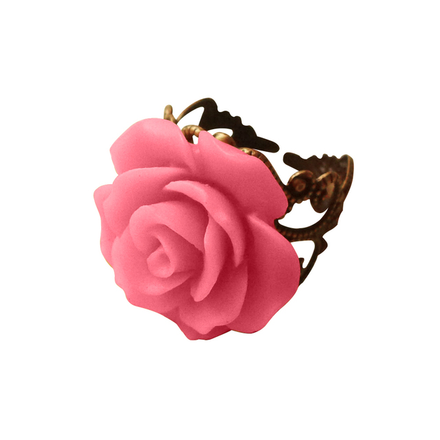 brixini.com - The Resin Rose Open Rings