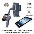 Nova dupla Universal USB 2 porto telefone celular carregador de carro montar titular suporte para todos telemóveis GPS suportes de veículos