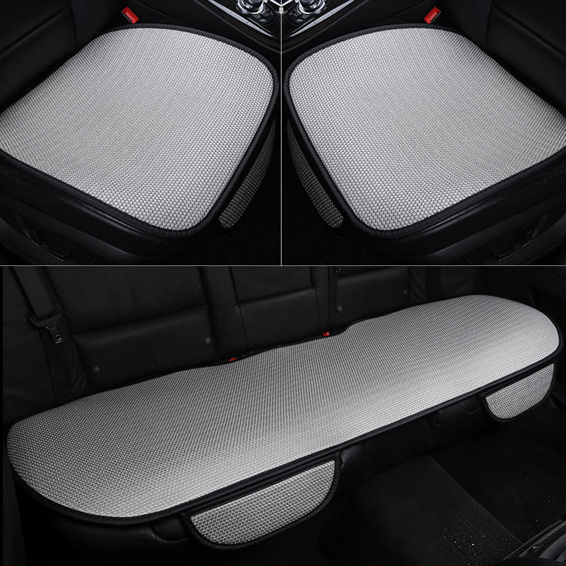 Image 2 - Car seat cushion Ice Silk Car Seat Cover Fashion Universal Seat Covers Car Styling Non Slip Breathable Car Auto Driver Chair mat-in Automobiles Seat Covers from Automobiles & Motorcycles