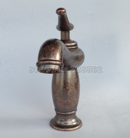 Red Copper Antique Bathroom Single Hole Deck Mounted Basin Faucet Single Lever Hot Cold Mixer Tap