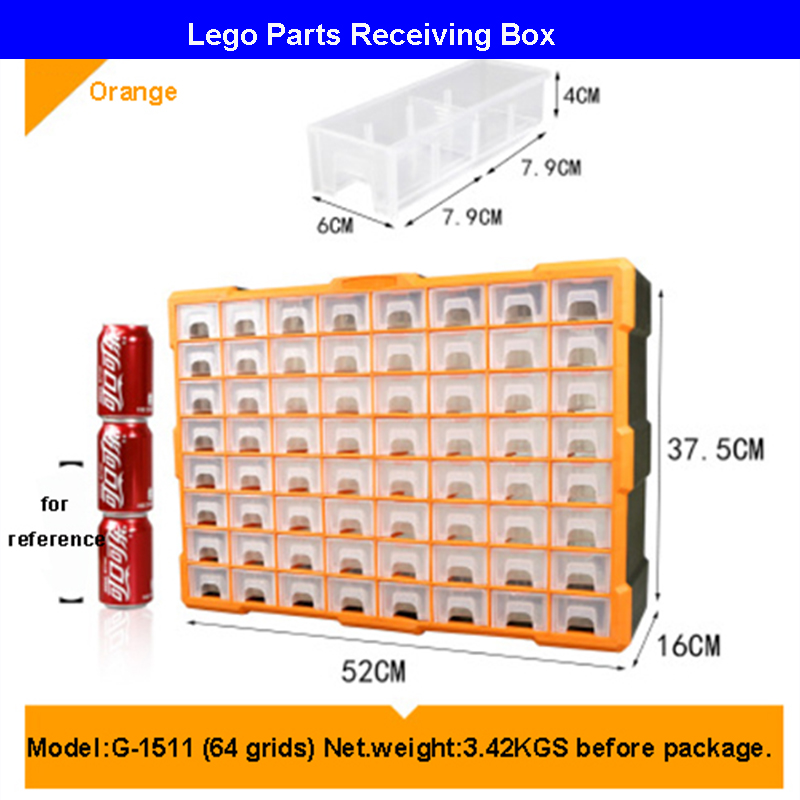 Building Blocks Lego Toys Large Capacity Hand Kids Storage Case Clear Plastic Organizer Box Can Adjust The Storage SpaceBuilding Blocks Lego Toys Large Capacity Hand Kids Storage Case Clear Plastic Organizer Box Can Adjust The Storage Space