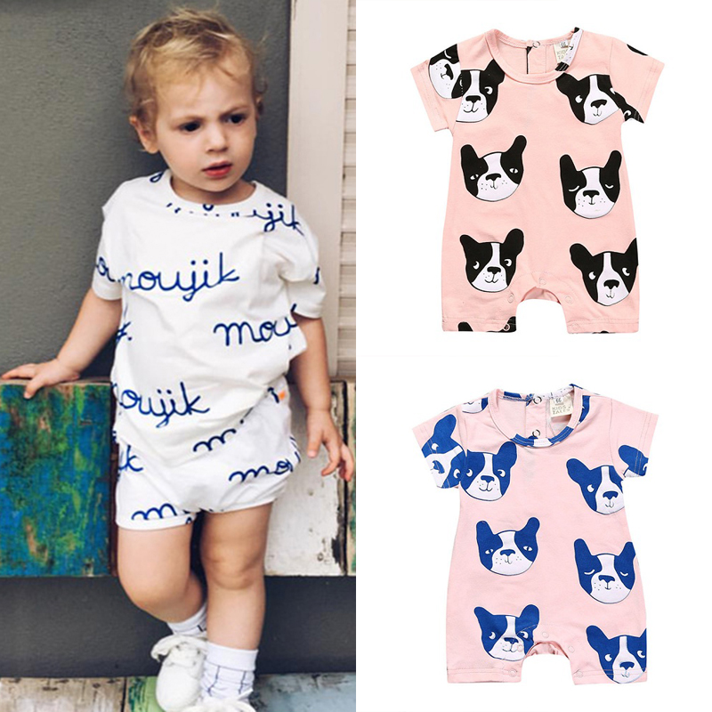 Kids Tales Baby Romper Newborn Baby Gift Infant Clothing Summer Brand Rompers Kids Clothes Model Dog Monkey overalls SR233